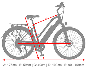 B15 Electric Trekking Bike - eBike with aluminium hardtail frame