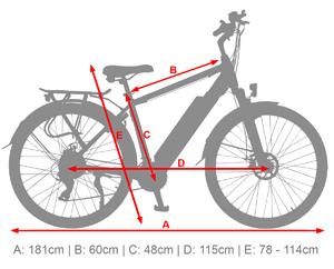 B15 ElektroTrekkingrad - eBike mitAlumminium Hardtail Rahmen