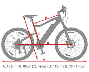 B16 Elektro Mountainbike - eBike mitAlumminium Hardtail Rahmen