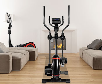Cross trainer with super smooth running