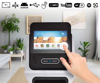 R7 Tablet und Handy kompatibler Fitnesscomputer