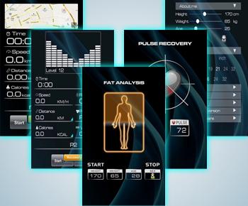 E3 Tablet und Handy kompatibler Fitnesscomputer