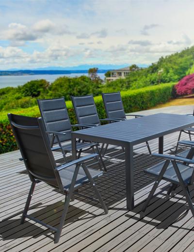 8er Ecklounge Set Polyrattan Gartenmöbel Dining Lounge