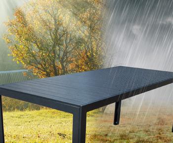 Bei Sonne und Regen stehen lassen