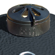 Kamado ceramic grill air regulation