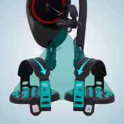 Safe training with anti-slip pedals