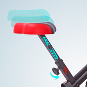 H14 height-adjustable upholstered saddle
