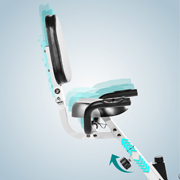 H16 height-adjustable upholstered saddle
