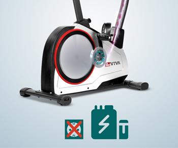 Polar kompatibler Pulsempfänger, so wie eine Halterung für das mobile Equipment runden diese Sportgeräte ab.
