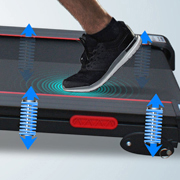 Side treads for easy access to the treadmill.