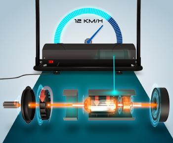 Energiesparender Laufband-Motor mit 1,8 PS und 12 Km/h