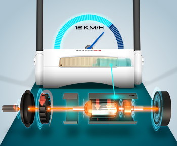 Energy-saving treadmill engine with 2.25 hp and 16 km/h