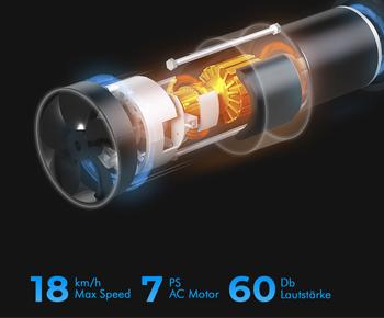 Energiesparender Laufband-Motor mit 7 PS und 18 Km/h