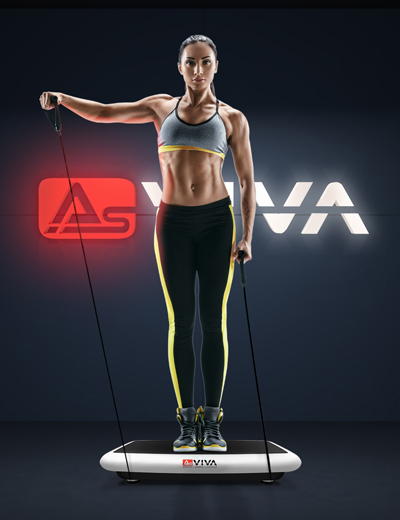 AsVIVA V10 3D Vibro-Plate Vibrationstrainer