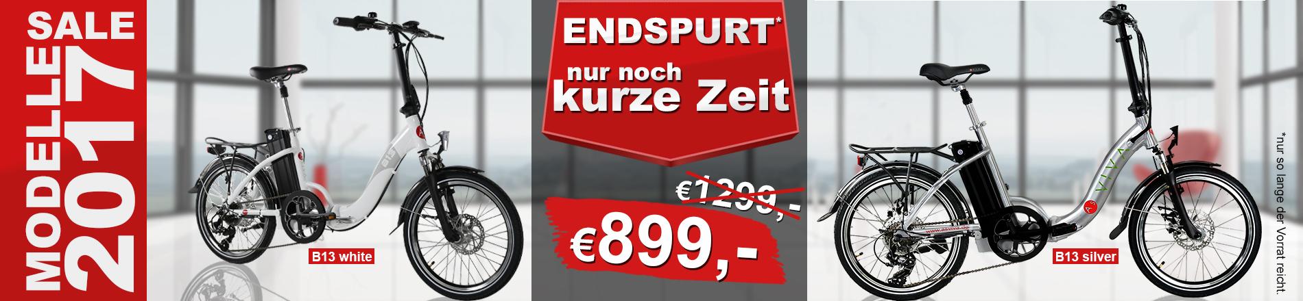 E-BIKE KLAPPRAD SALE ASVIVA E-BIKE B13 GUTSCHEIN 12%