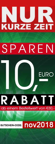 10 Euro sparen beim Kauf von Fitnessgeräten, E-Bikes, Keramikgrills und Gartenmöbel im AsVIVA Online Shop.