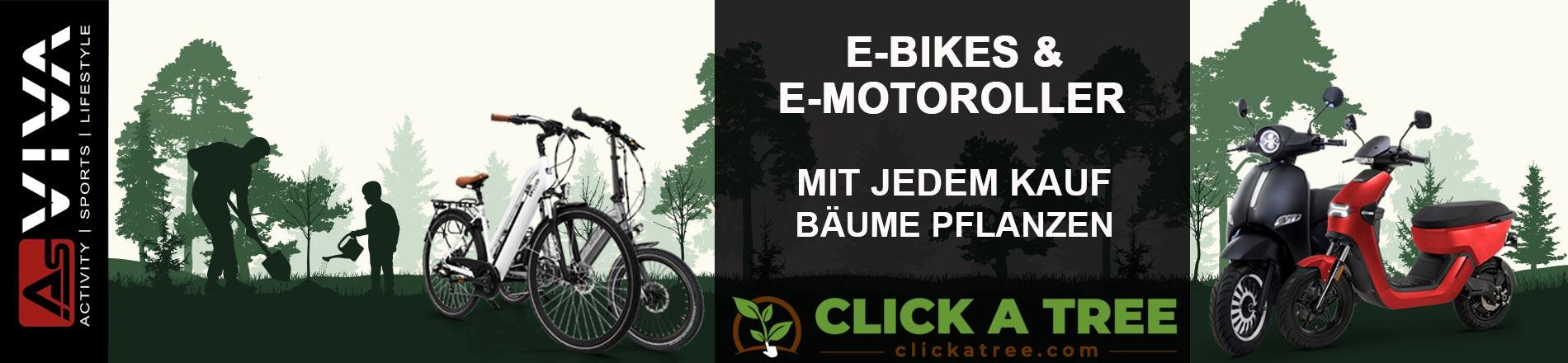 AsVIVA E-Bike oder E-Roller kaufen und damit neue Bäume pflanzen