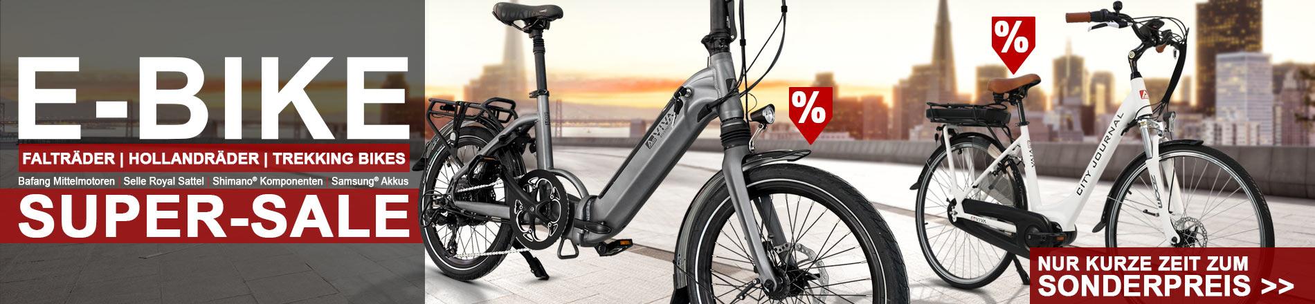 E-Bike-Sale - jetzt beim Kauf von ausgewählten Top-Artikeln zusätzlich sparen im AsVIVA Online Shop
