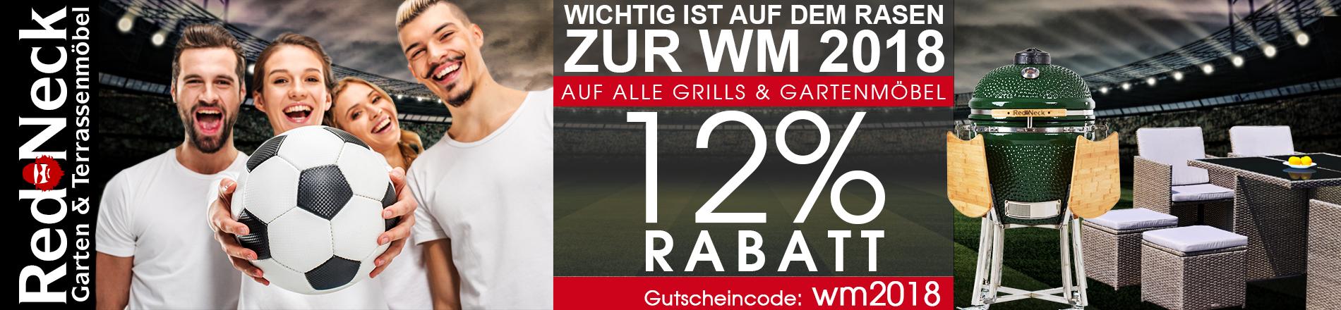 12% WM-Rabatt auf Gartenmöbel & Keramikgrills