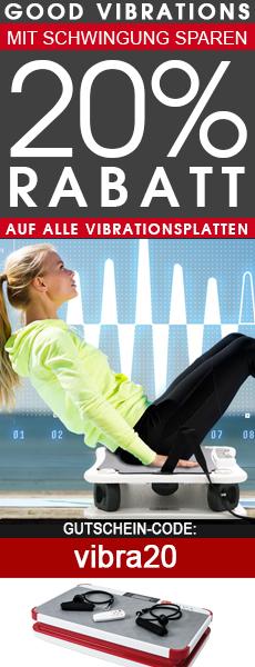 Vibrationsplatten Sale 20% Rabatt Gutschein