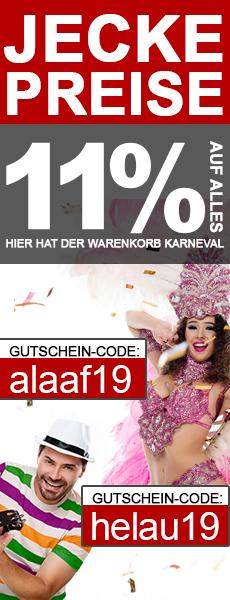 Karneval-Rabatt 11% Gutschein für Fitnessgeräte, E-Bikes, Keramikgrills und Gartenmöbel im AsVIVA Online Shop