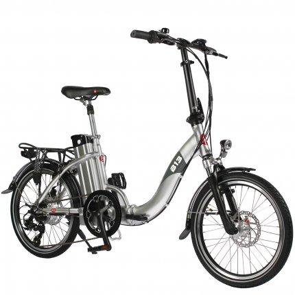 """(B-Ware) E-Bike 20"""" Klapprad B13 AsVIVA 36V Elektro-Klapprad Elektrofahrrad Pedelec silber"""