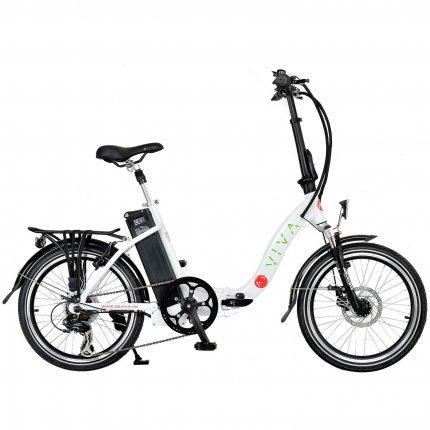 AsVIVA Elektrofahrrad & Klappfahrrad Pedelec B12 E-Bike weiß