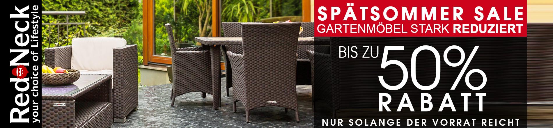 Gartenmöbel von RedNeck top reduziert - bis 50% sparen!