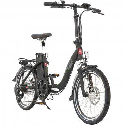 """E-Bike 20"""" Faltrad B13 AsVIVA 36V Elektro-Klapprad Elektrofahrrad Pedelec schwarz matt"""