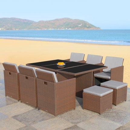 Gartenmöbel 6er Rattan-Lounge Sitzgruppe direkt vom Hersteller | AsVIVA