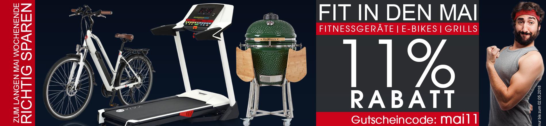 11% Rabatt-Gutscheincode für Fitnessgeräte, E-Bikes und Keramikgrills