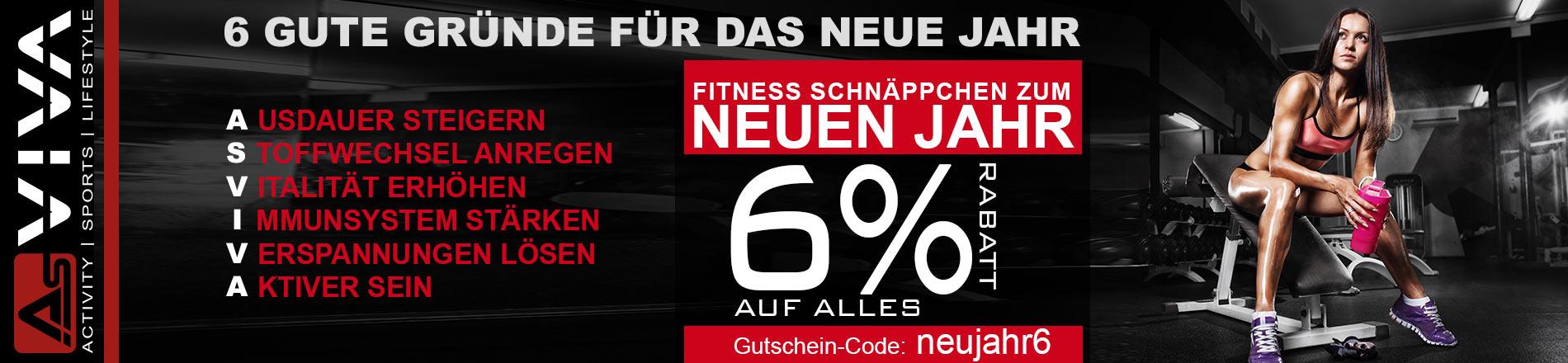6%-Rabatt-Gutschein für Fitnessgeräte, E-Bikes, Keramikgrills und Gartenmöbel im AsVIVA Online Shop