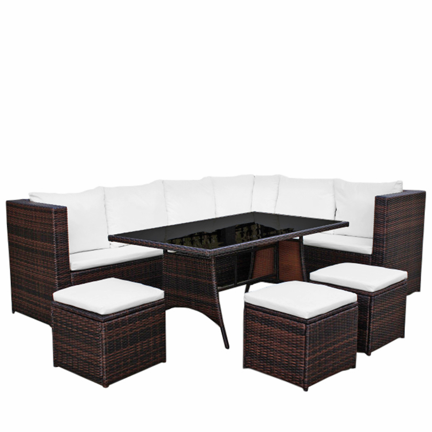 gartenm bel 8er rattan ecklounge g nstig kaufen asviva. Black Bedroom Furniture Sets. Home Design Ideas