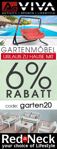 RedNeck Gartenmöbel Summer Sale - jetzt beim Kauf 6% zusätzlich sparen im AsVIVA Online Shop.