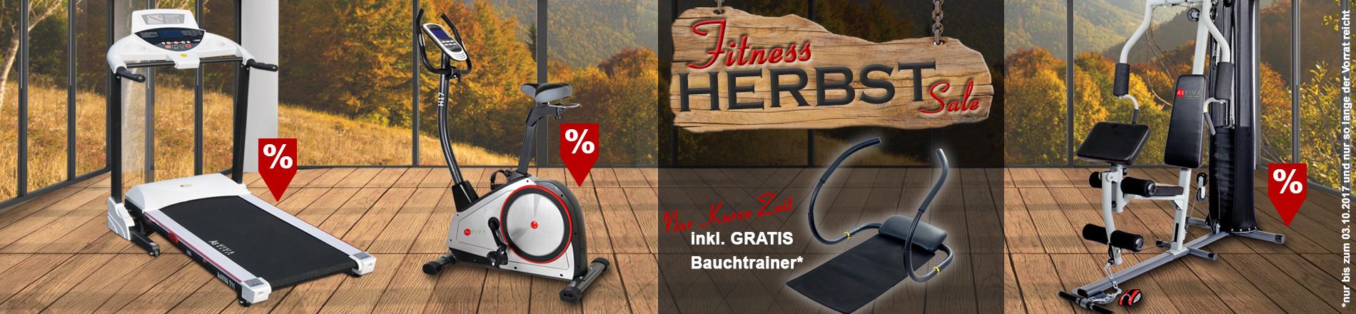 Heimtrainer, Laufband, Kraftstation und Ruderger�t g�nstig im FITNESS-HERBST kaufen. Bauchtrainer GRATIS.