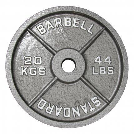 Hantelscheibe 20 kg Gusseisen 50 mm AsVIVA Barbell HS4_5_20