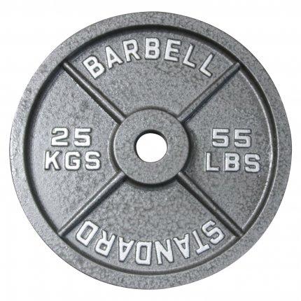 Hantelscheibe 25 kg Gusseisen 50 mm AsVIVA Barbell HS4_5_25
