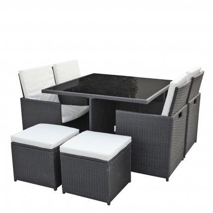 gartenm bel 4er rattan lounge sitzgruppe g nstig kaufen asviva. Black Bedroom Furniture Sets. Home Design Ideas