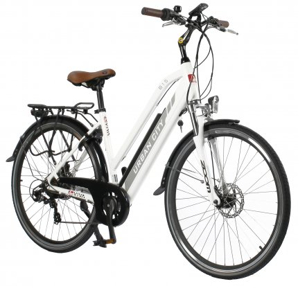 "E-Bike CityBike 28"" B15-D AsVIVA 36V Trekkingrad Elektrofahrrad Pedelec weiß"