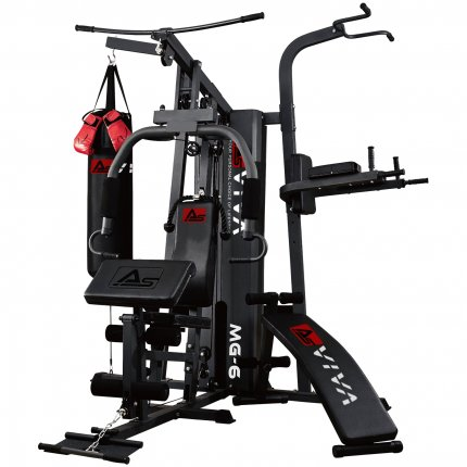Kraftstation AsVIVA MG6 Pro 50in1 90kg Box- Kampfsport Multi-Gym