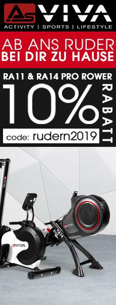 10% Top Rabatt für AsVIVA Rudergeräte RA11 & RA14
