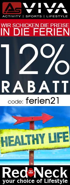 12% Ferien-Aktion Gutschein für Fitnessgeräte, E-Bikes, E-Motorroller, Keramikgrills und Gartenmöbel