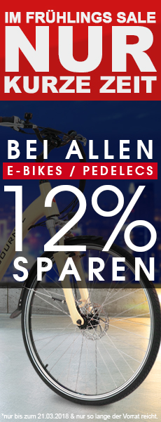 E-BIKE Top Angebot - Fr�hlingsrabatt 12%