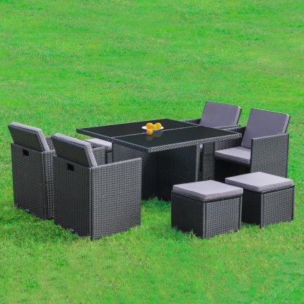 Gartenmöbel set lounge  Gartenmöbel 4er Rattan-Lounge Sitzgruppe günstig kaufen | AsVIVA