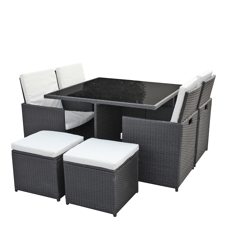gartenm bel 4er rattan lounge sitzgruppe g nstig kaufen asviva. Black Bedroom Furniture Sets. Home Design Ideas