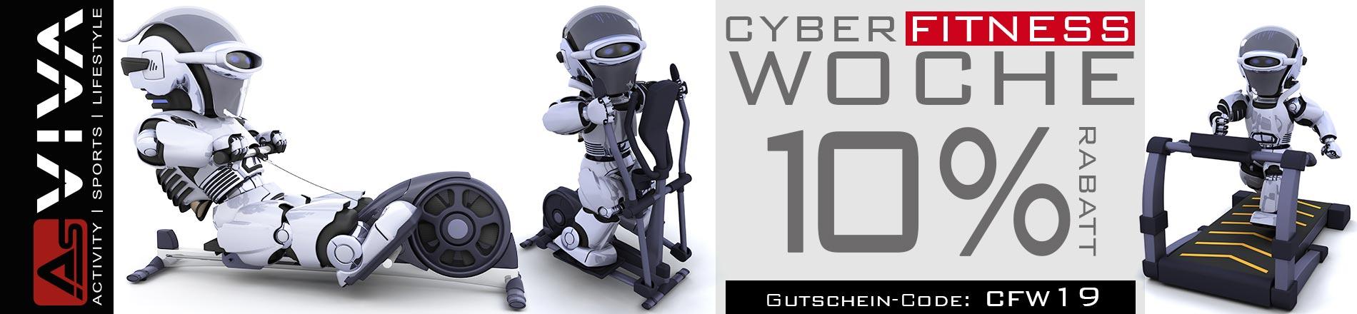 AsVIVA Cyber Fitness Woche 10% Rabatt-Gutschein Aktion für AsVIVA Fitnessgeräte, E-Bikes, Gartenmöbel & Keramikgrills