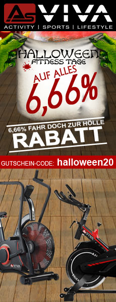 6,66% Halloween-Gutschein für Fitnessgeräte, E-Bikes, E-Scooter, Keramikgrills und Gartenmöbel