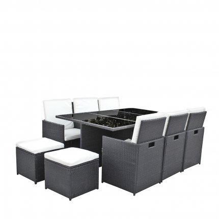 gartenm bel 6er rattan lounge sitzgruppe direkt vom hersteller asviva. Black Bedroom Furniture Sets. Home Design Ideas