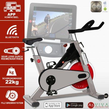Indoor Cycle Speedbike S8 mit Bluetooth für Ausdauertraining von AsVIVA kaufen