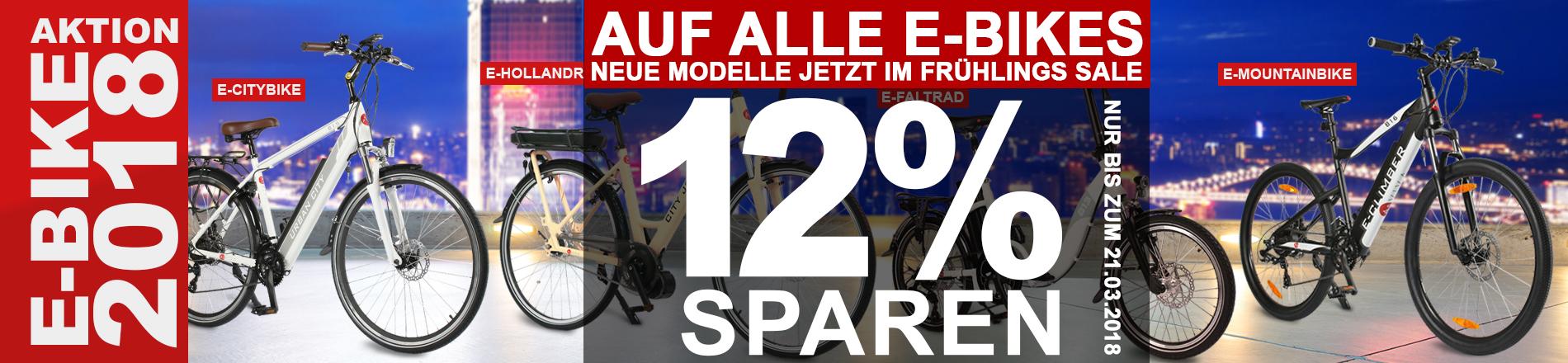 E-BIKE Top Angebot - Frühlingsrabatt 12%